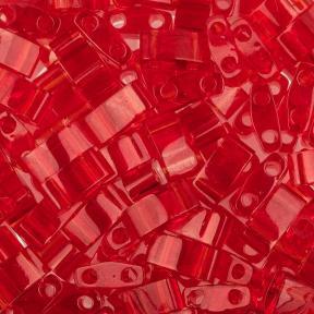 Бисер Half Tila Прозрачный светлый красный