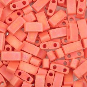 Бисер Half Tila Радужный прозрачный матовый оранжевый
