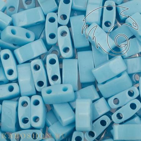 Бисер Half Tila Непрозрачный голубая бирюза