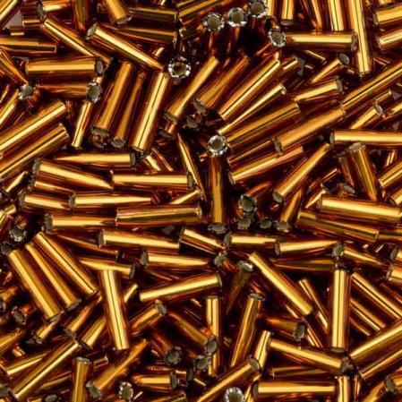 Стеклярус Miyuki 6 мм Внутреннее серебрение темный топаз