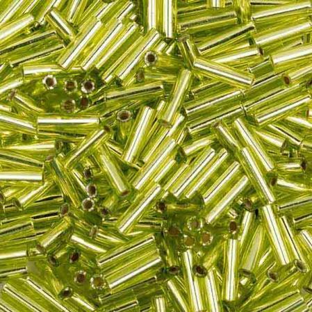 Стеклярус Miyuki 6 мм Внутреннее серебрение шартрезовый
