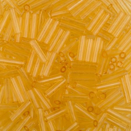 Стеклярус Miyuki 6 мм Прозрачный светлый топаз