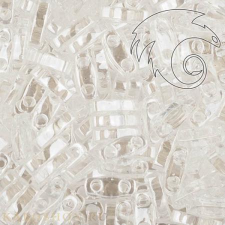 Бисер Quarter Tila Глянцевый прозрачный хрусталь