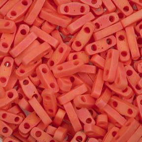 Бисер Quarter Tila Радужный прозрачный матовый оранжевый