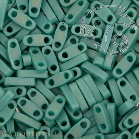 Бисер Quarter Tila Непрозрачный радужный матовый зеленая бирюза