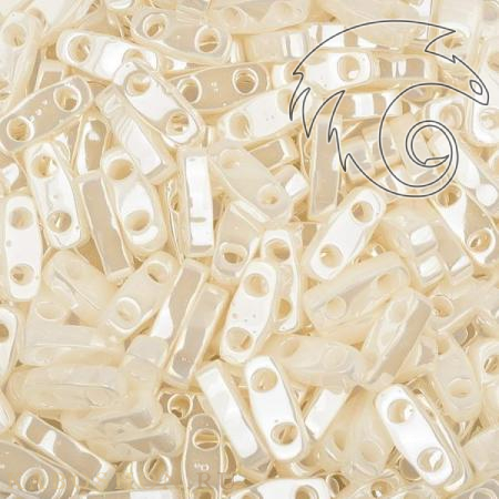 Бисер Quarter Tila Цейлон жемчужный античная слоновая кость