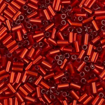 Стеклярус Toho 3 мм Внутреннее серебрение рубин