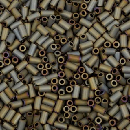Стеклярус Toho 3 мм Матовый непрозрачный серый ирис