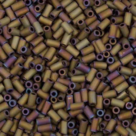 Стеклярус Toho 3 мм Матовый непрозрачный радужный коричневый