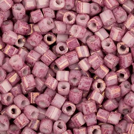 Бисер Toho Мраморный непрозрачный розовый