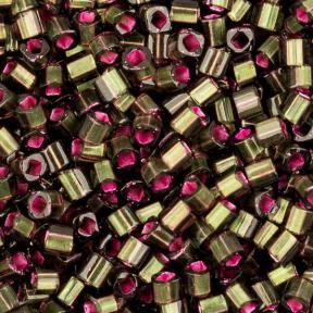 Бисер Toho Матовый внутреннее серебрение оливковый-розовый