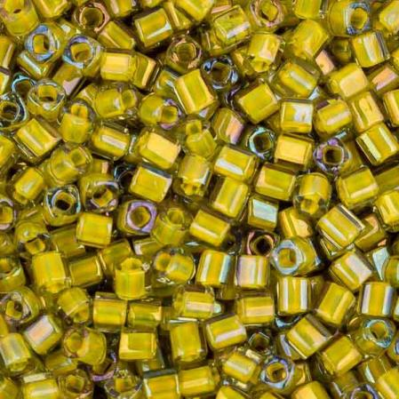 Бисер Toho Окрашенный изнутри глянцевый черный бриллиант/непрозрачный желтый