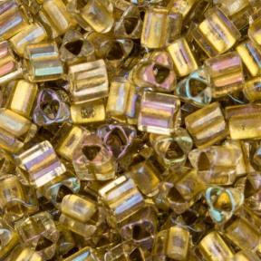 Бисер Toho Окрашенный изнутри радужный хрусталь-золото