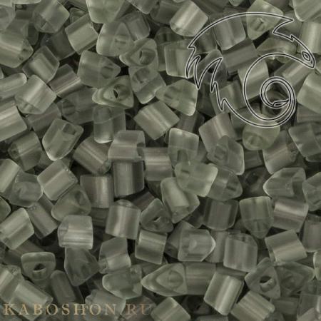 Бисер Toho Матовый прозрачный темно-серый