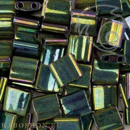 Бисер Tila Металлизированный радужный зеленый
