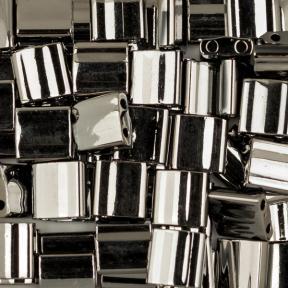 Бисер Tila Непрозрачный черный Full Chrome
