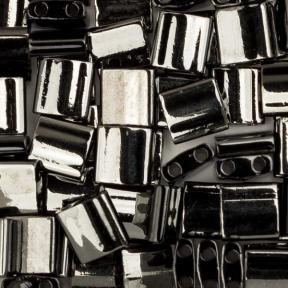 Бисер Tila Непрозрачный черный Vacuum Hematite Full