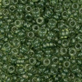 Бисер Toho Demi Round HYBRID Прозрачный зеленая вспышка