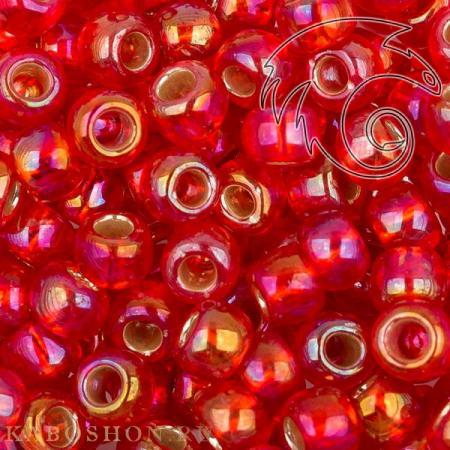 Бисер Toho Внутреннее серебрение радужный светлый сиамский рубин