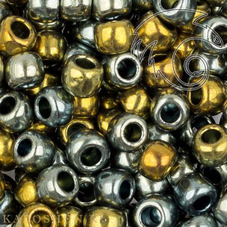 Бисер Toho Гальванизированный синее золото