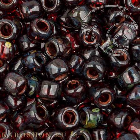 Бисер Toho HYBRID Прозрачный пикассо сиамский рубин
