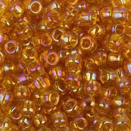 Бисер Toho 8-0 Радужный прозрачный светлый топаз