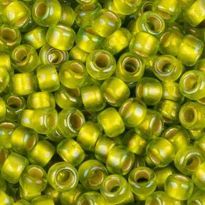 Бисер Toho 8-0 Матовый внутреннее серебрение радужный зеленый лайм