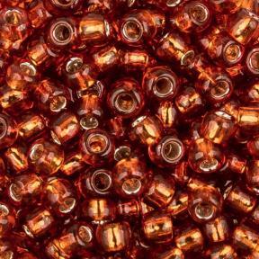 Бисер Toho 8-0 Внутреннее серебрение жженый рыжий