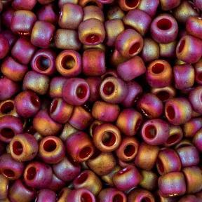 Бисер Toho 8-0 Полуматовый радужный темно-красный