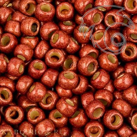 Бисер Toho PF Матовый гальванизированный кирпично-красный