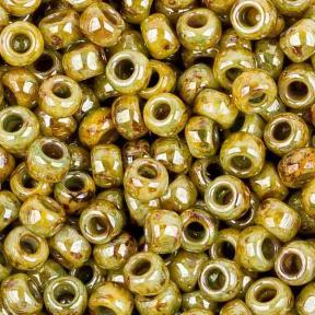 Бисер Toho HYBRID 8-0 Непрозрачный ультраглянцевый зеленый