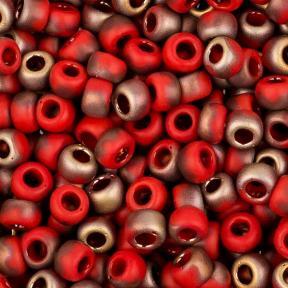 Бисер Toho HYBRID 8-0 Матовый темно-красный аполло