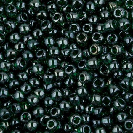 Бисер Toho 11-0 Глянцевый прозрачный зеленый изумруд
