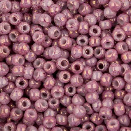 Бисер Toho 11-0 Мраморный непрозрачный розовый