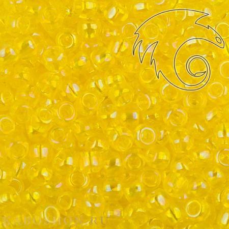 Бисер Toho Радужный прозрачный лимон