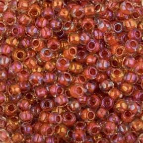 Бисер Toho 11-0 Окрашенный изнутри глянцевый хрусталь/терракотовый