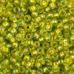 Бисер Toho 11-0 Внутреннее серебрение зеленый лайм