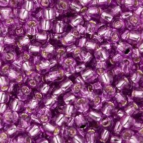 Бисер Toho 11-0 Внутреннее серебрение светлый виноград