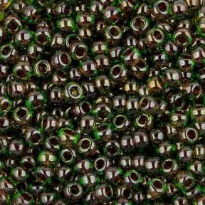 Бисер Toho 11-0 Окрашенный изнутри перидот-фуксия
