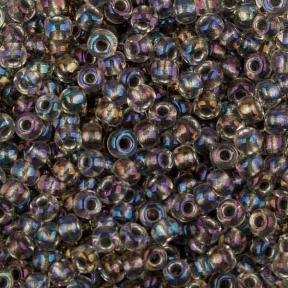 Бисер Toho 11-0 Окрашенный изнутри непрозрачный серый/радужный хрусталь