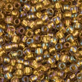 Бисер Toho 11-0 Окрашенный изнутри радужный хрусталь-золото