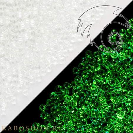 Бисер Toho Прозрачный/светящийся в темноте зеленый