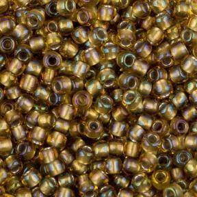 Бисер Toho 11-0 Окрашенный изнутри светлый топаз/серый