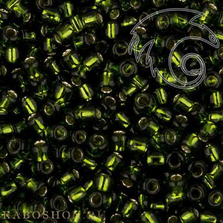 Бисер Toho Внутреннее серебрение оливковый