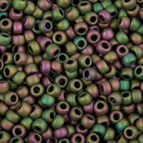 Бисер Toho 11-0 Матовый радужный кассиопея (зелено-лиловый)