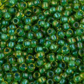 Бисер Toho 11-0 Окрашенный изнутри лайм-непрозрачный зеленый