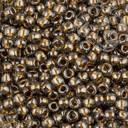 Бисер Toho Внутренняя позолота черный бриллиант