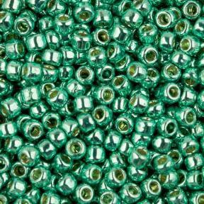 Бисер Toho PF Гальванизированный светлый зеленый