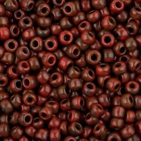 Бисер Toho HYBRID Матовый красно-коричневый пикассо
