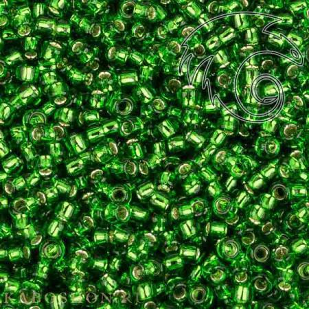 Бисер Toho Внутреннее серебрение травянисто-зеленый